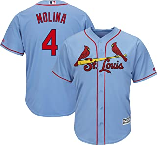 Outerstuff Yaider Molina St. Louis Cardinals Youth 8-20 Light Blue Alternate Official Player Name & Number Jersey