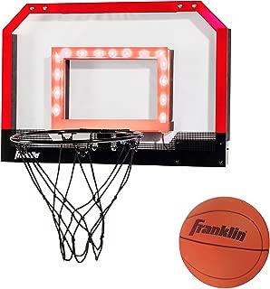Franklin Sports Over the Door Indoor Mini-Basketball Hoop for Kids with Ball and Pump - Breakaway Pro Style Steel Rim – Shatter Resistant Backboard