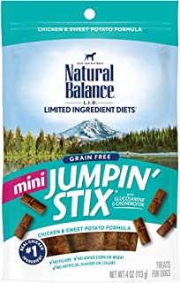 Natural Balance L.I.D. Limited Ingredient Diets Jumpin` Stix Dog Treats, Grain Free (Packaging May Vary)