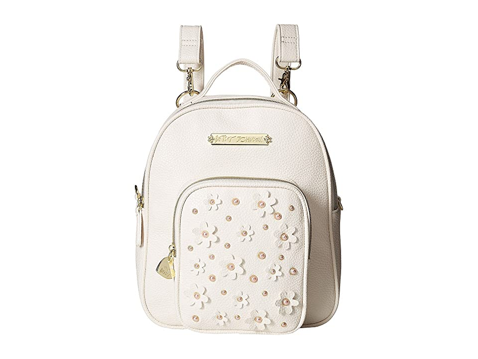Betsey Johnson Medium Backpack (Bone) Backpack Bags