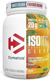 Dymatize ISO100 Hydrolyzed Clear Protein Powder, 100% Whey Protein Isolate Powder, 20g of Protein & 4g BCAA...