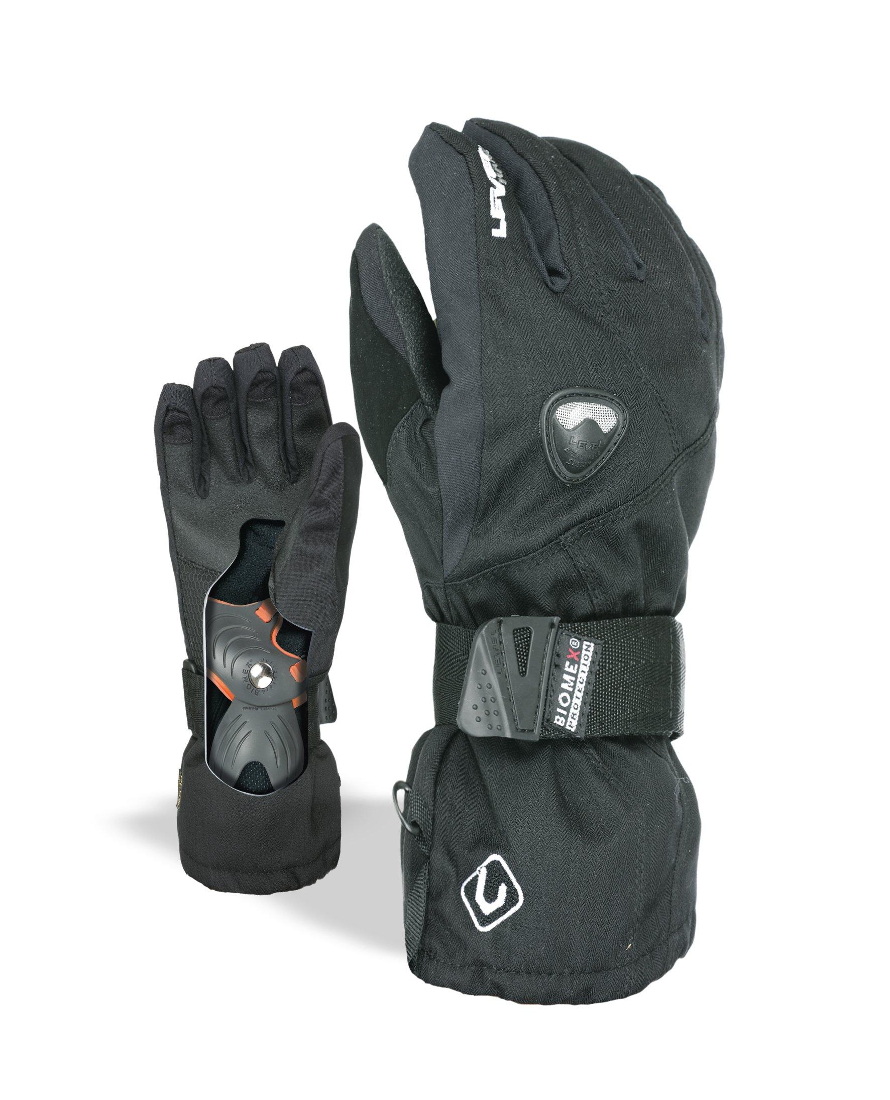 Level Jungen Handschuhe Fly JR, Black, 6,5