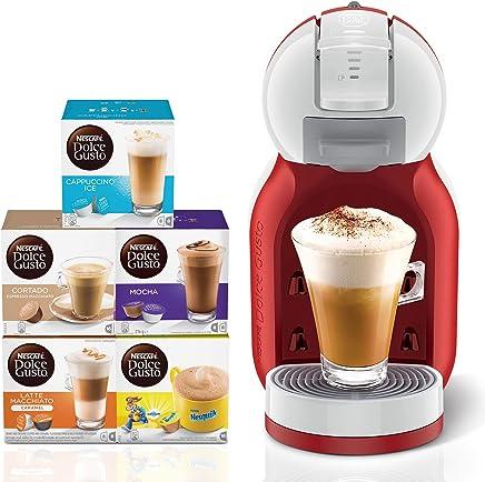 Nescafe Dolce Gusto Mini Me Coffee Machine, Red + 5 Capsule Boxes (80 Capsules)