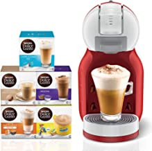 Nescafe Dolce Gusto Mini Me Coffee Machine, Red + 5 Capsule Boxes (80 Capsules)