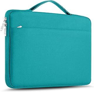 ZINZ Maletín 15 15,6 16 Funda Portátil Impermeable para 15-16 Pulgadas MacBook Pro 16 15, Surface Laptop 3 15,XPS 15 Laptop Ultrabook Netbook, DELL HP Lenovo Acer ASUS y más, Azul de Lino
