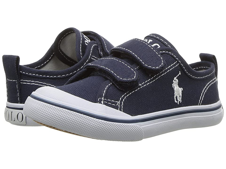 Polo Ralph Lauren Kids Karlen EZ (Toddler) (Navy Canvas/White Pony Player) Kid