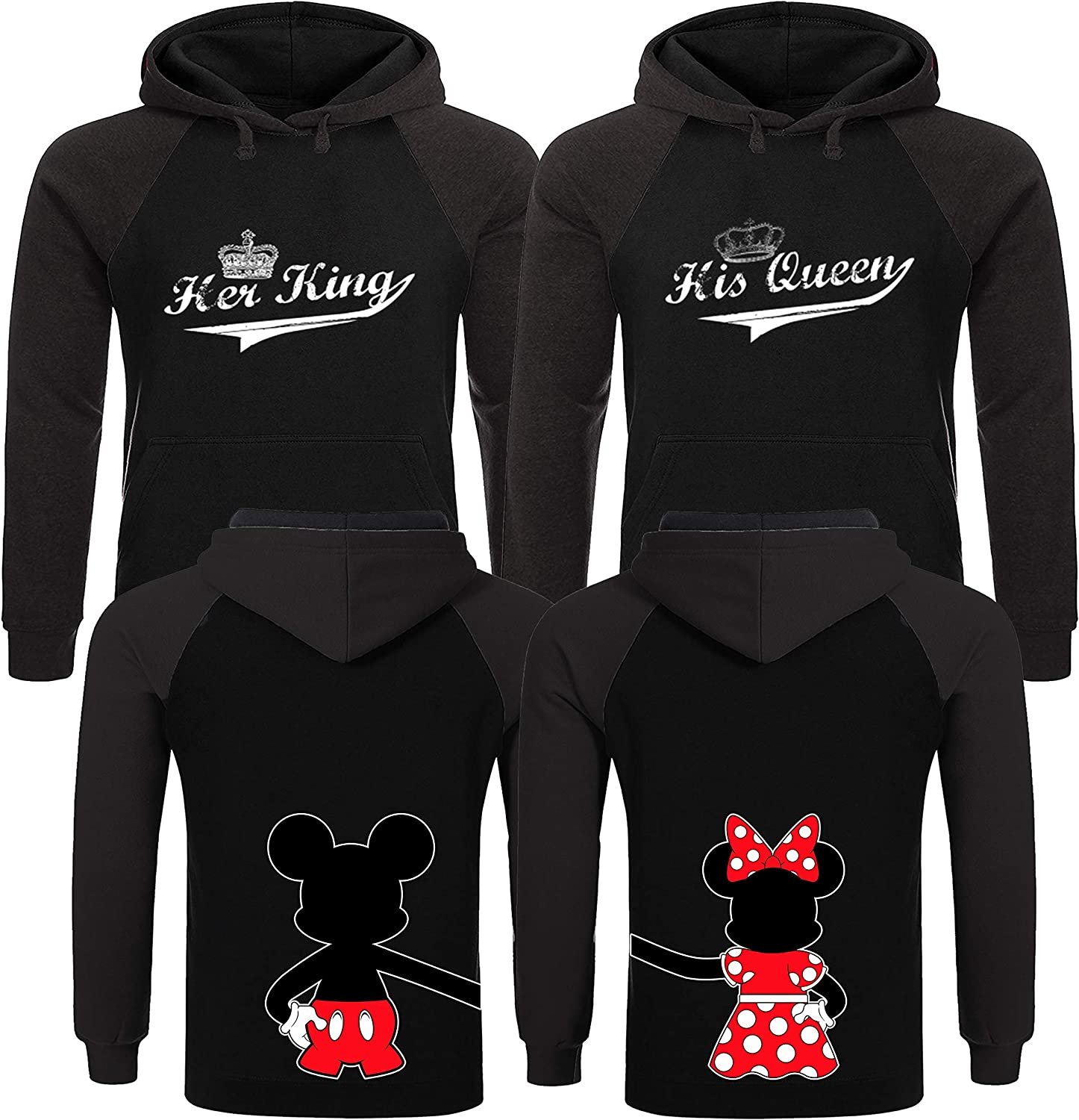 5% OFF King and Queen Hoodies His Hers Que Gifts Quality inspection Couples