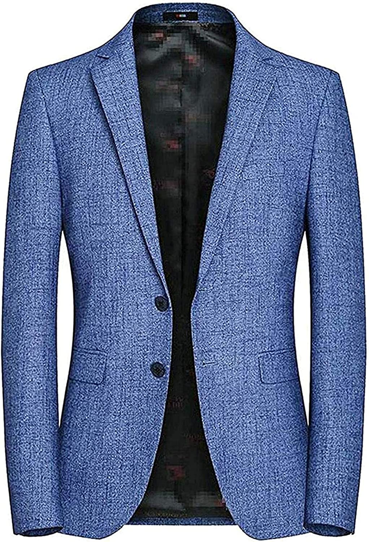 Mens Trendy Sport Coat Single-Breasted Notched Lapel Blazer Suit Jacket
