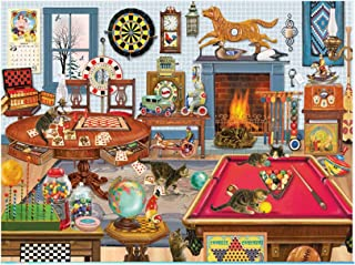WAFamily Space Puzzle 1000 Piece Jigsaw Puzzles for Kids Adults Explore Creativity Paintings Puzzle Patte Large Puzzle Game Artwork Toy Wandbild Puzzle Play Mats Animal Landscape Pattern (A)
