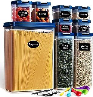 Lockcoo Boîtes Hermetique Alimentaire Lot de 9, Bocaux Hermetiques Alimentaires en Plastique Scellée avec Couvercle Boite ...
