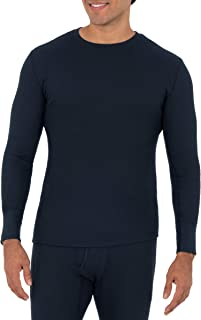 Fruit of the Loom Men's Recycled Waffle Thermal Underwear Crew Top (1 and 2 Packs)