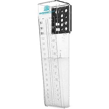 Pluviomètre 150 mm Deluxe Heavy Duty Professional Jauge de pluie avec facile à lire échelle. L'extérieur Jauge de pluie Idéal pour votre jardin ou Ferme.