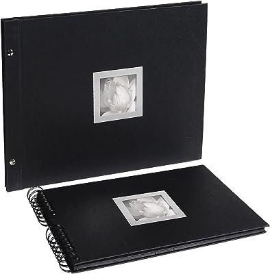 Exacompta Ceremony Álbum Foto con Tornillo, Cubierta de Papel, Negro, 37.20x29.80x2.70 cm
