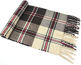 Men's Tartan Pattern Design Fashion Knitted Scarf Scarves Fall/Winter Wrap NEW