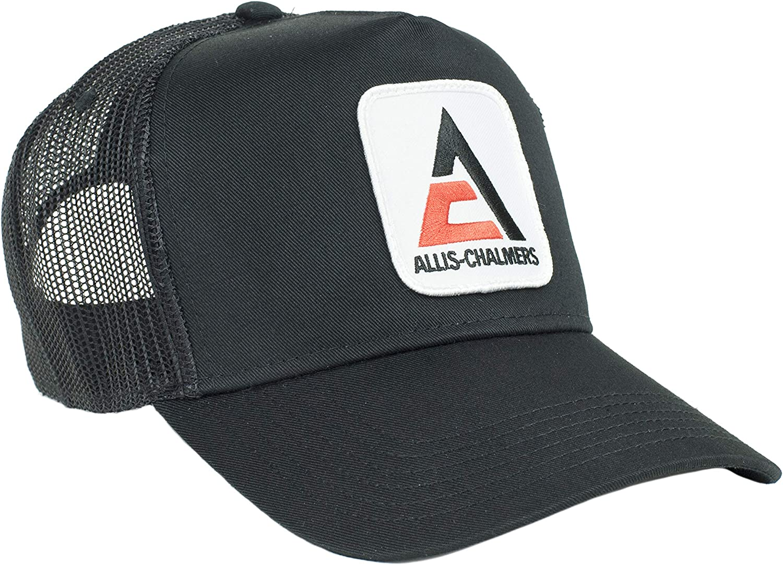 Allis Chalmers Free shipping / New Dallas Mall Trucker Hat Mesh Black Logo New