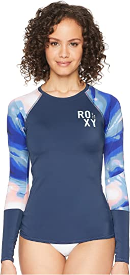 Roxy Fitness Lycra Long Sleeve Rashguard