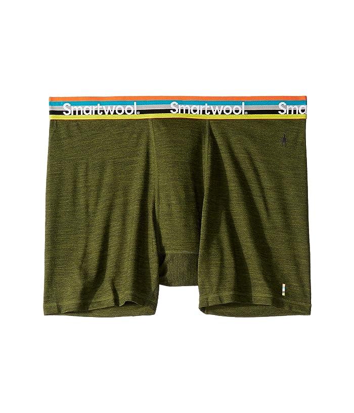 Smartwool Merino Sport 150 Boxer Brief (Moss Green Heather) Men