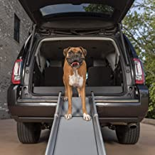PetSafe Happy Ride Compact Telescoping Dog Ramp - Portable Lightweight Pet Ramp - Great for Cars, Trucks and SUVs - Durable Aluminum Frame Supports up to 300 lb - High Traction Surface Design