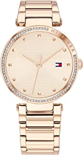 Tommy Hilfiger Women'S Light Rose Gold Dial Ionic Plated Carnation Gold Steel Watch - 1782237