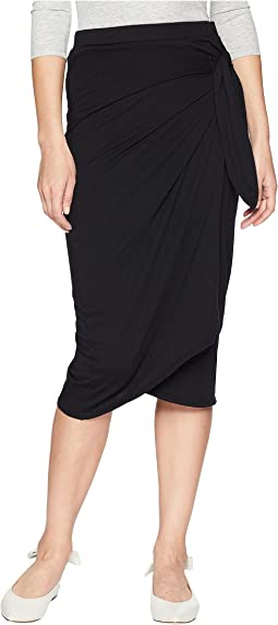 Cotton Modal Faux Wrap Skirt