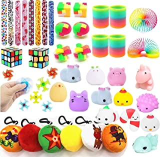 42PCS Party Favors For Kids Toy Assortment Bundle,Mochi Squishies,Puzzles,Finger Gyro Spiral Twister Toys For Birthday Par...
