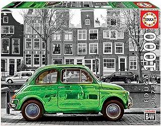 Educa Borras – Coloured B&W Series, Puzzle 1,000 Pieces Car in Amsterdam (18000)