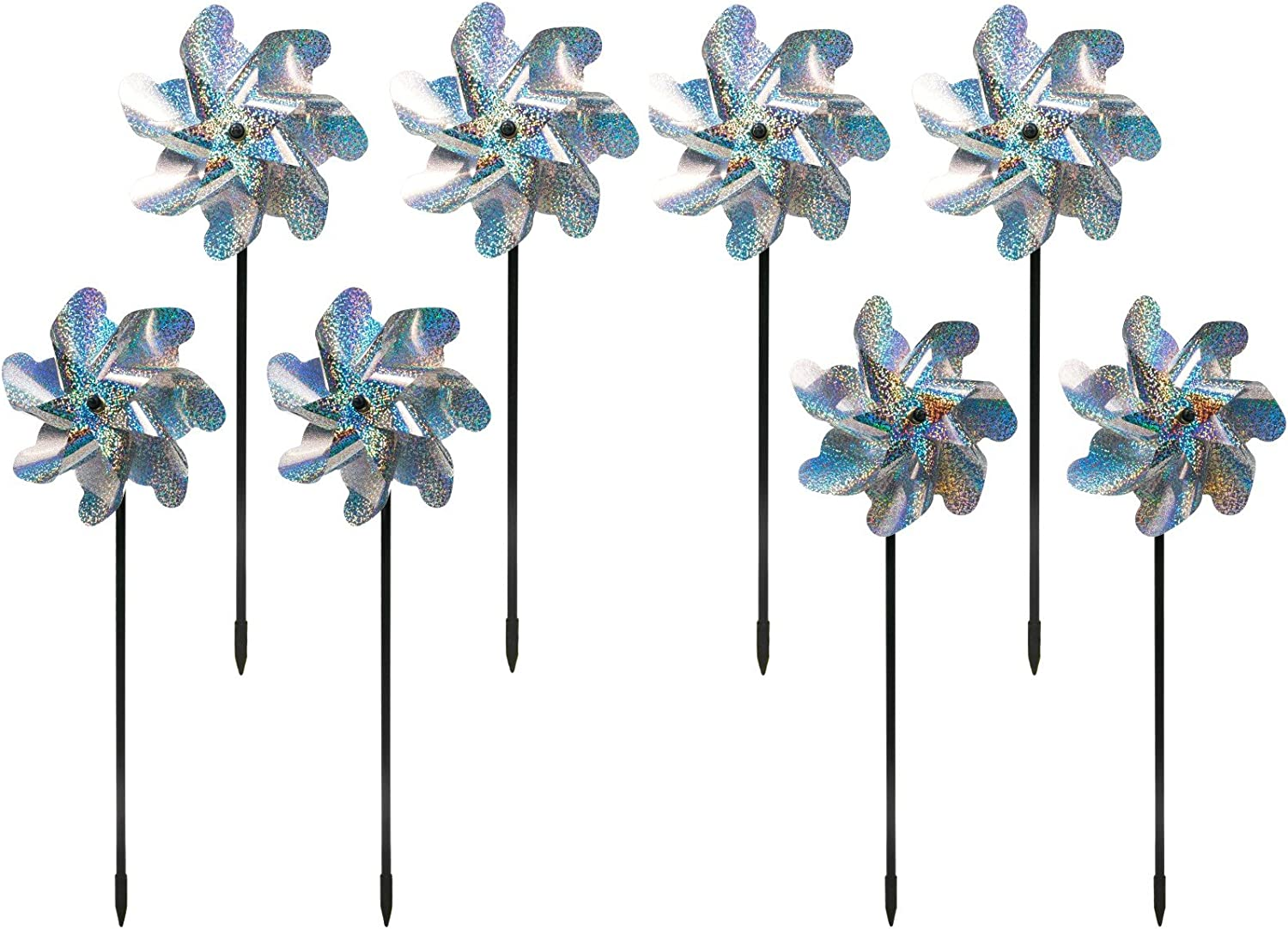 BIRD BLINDER Premium Repellent PinWheels Deluxe Holograp – Sparkly Recommended
