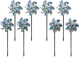 Best Bird Blinder Repellent PinWheels – Sparkly Holographic Pin Wheel Spinners Scare Off Birds and Pests (Set of 8) - Pre-Assembled Review