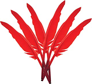 Touch of Nature 38171 Indian Feather, 10 to 12-Inch, Red
