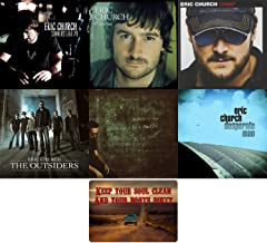 Eric Church: Complete 6 Studio Album Discography CD Collection with Bonus Art Card ( Chief / The Outsiders / Carolina and More)