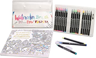 SPETA Bundle of 20+1 Vibrant Water Colors Markers with Coloring Book For Kids & Adults-96 Pages of Premium Quality Paper o...