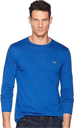 Long Sleeve Pima Jersey Crew Neck T-Shirt