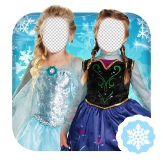 Ice Princess Kid Photo Montage