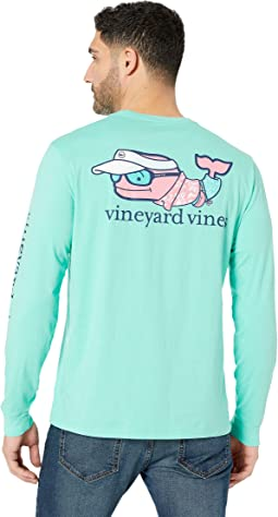 Long Sleeve Vacation Whale Pocket Tee