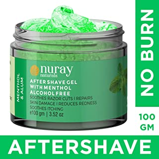 Nuray Naturals Vegan Aftershave Gel with Menthol and Alum, 100 ml