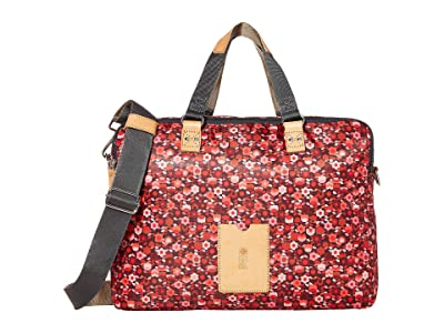 Orla Kiely Stem Garden Print Work Bag (Berry) Satchel Handbags