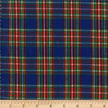 Textile Creations Classic Yarn-dyed Tartan Plaid Fabric, Royal/Red/Yellow, Fabric By The Yard