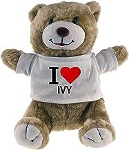Diseño de oso de peluche Classic I Love Ivy Beige
