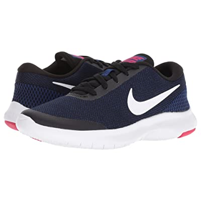 Nike Flex Experience RN 7 (Black/White/Deep Royal Blue/Rush Pink) Women