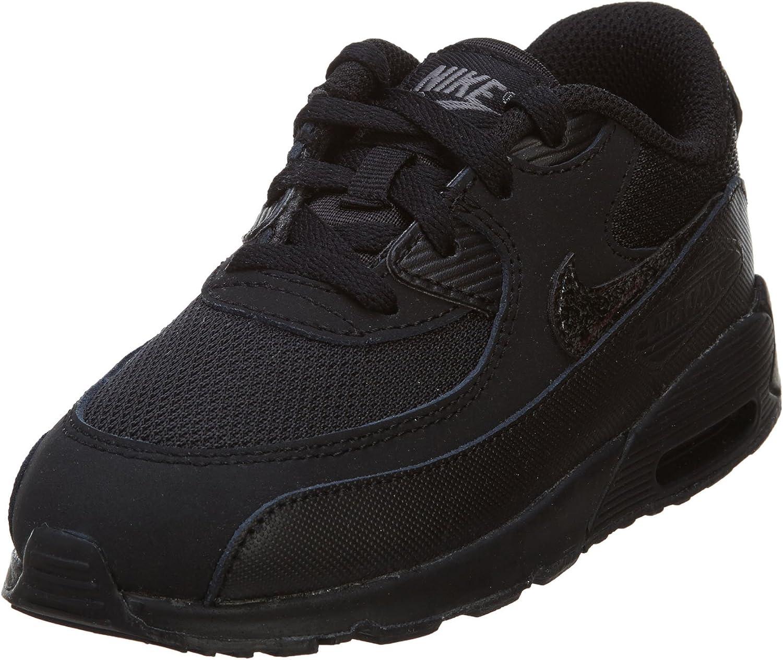 Nike Air Max 90 Mesh Bébé Noire Noir 21 : Amazon.fr: Chaussures et ...