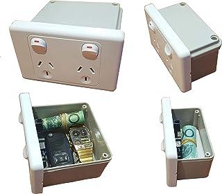 Power Point Stash Box Hidden Wall Safe Can Secret Diversion Powerpoint Outlet Australian Made, Regular Size or XL (Extra L...