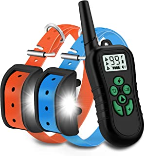 Best WILLBEST 2020 Upgraded Dog Training Collar Waterproof and Rechargeable Range 1650 Ft Shock Collar with Beep,Vibration,Shock,Tracking Light Modes Review