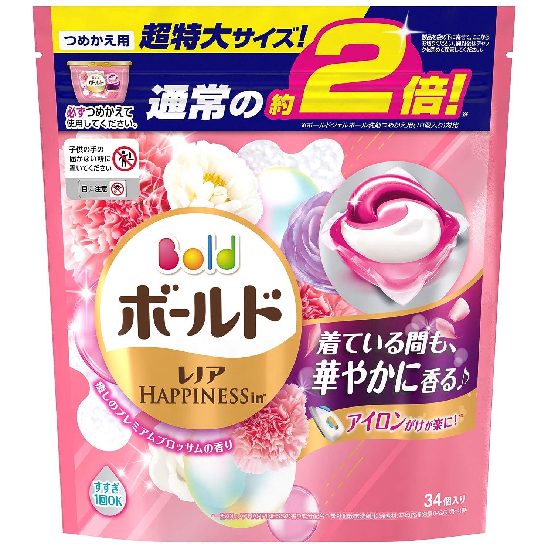 アラームジャンピングジャック審判ボールド 洗濯洗剤 ジェルボール3D 癒しのプレミアムブロッサムの香り 詰め替え 超特大 34個入