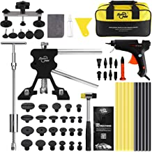 Paintless Automobile Dent Removal Repair Kits with 18Pcs Puller Tabs GOTOTOP T-Handle Car Body Dent Repair Tools