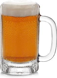 Libbey Heidelberg Glass Beer Mugs, 16-ounce, Set of 4