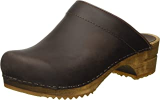 Women's Wood Classic Open Back Antique Brown Oiled Clog