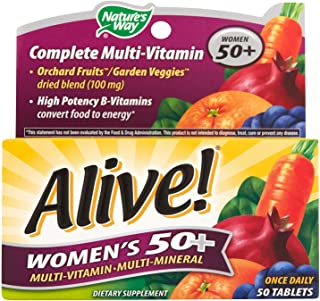 Nature's Way Alive Women's 50 Plus Multivitamin and Mineral Tablets, 50 Count (4 Packs)