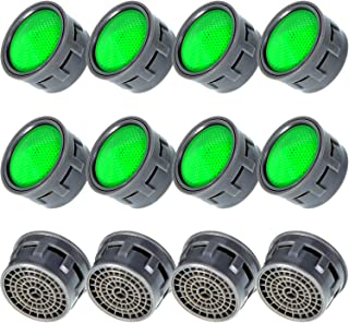 12 Pieces Faucet Aerators Water Tap Aerators Faucet Flow Restrictor Replacement Parts Insert Aerator for Bathroom or Kitchen