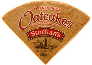 Stockans Original Thick Oatcakes 6 x 7 oz (200g) packets - each packet contains 8 triangular pieces