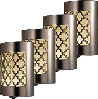 GE CoverLite LED Night Light, 4 Pack, Plug-in, Dusk-to-Dawn Sensor, Home Décor,..